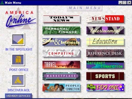 AOL Screen 1993