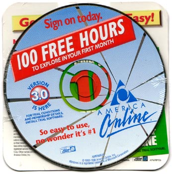 AOL CD 100 Hours free