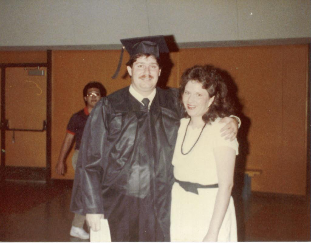 David in 1984 at NAU Graduation